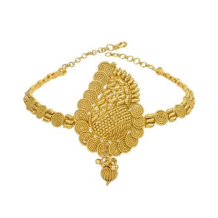 13319 Antique Plain Gold Baju Band
