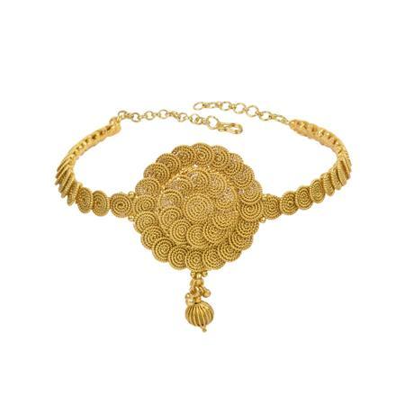 13320 Antique Plain Gold Baju Band
