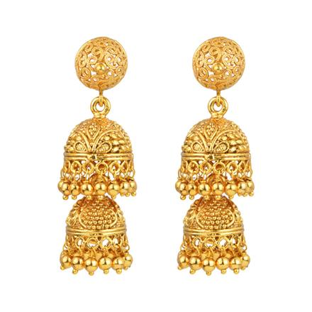 13327 Antique Jhumki with gold plating