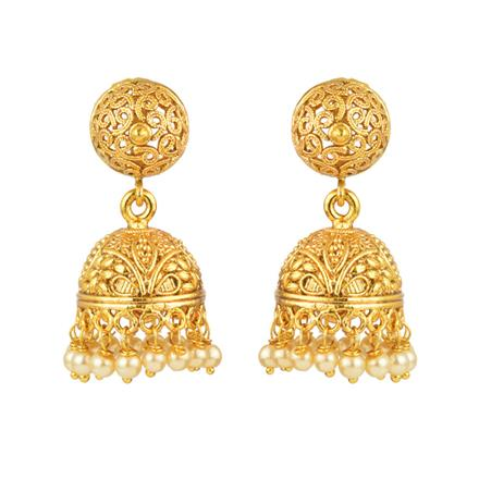 13328 Antique Jhumki with gold plating