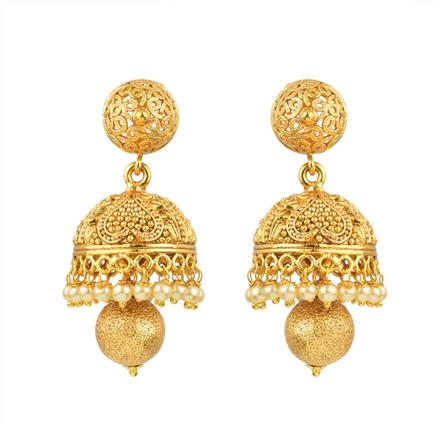 13329 Antique Jhumki with gold plating
