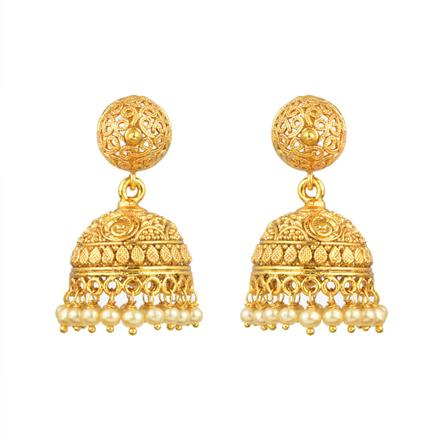 13330 Antique Jhumki with gold plating