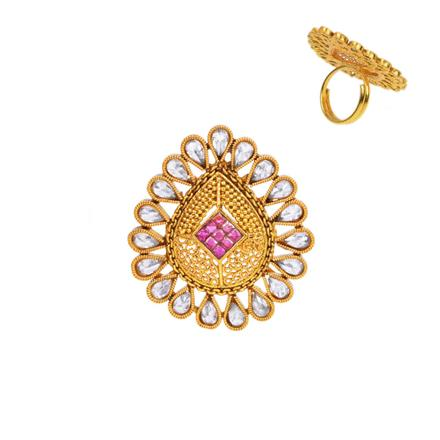 13332 Antique Classic Ring with gold plating