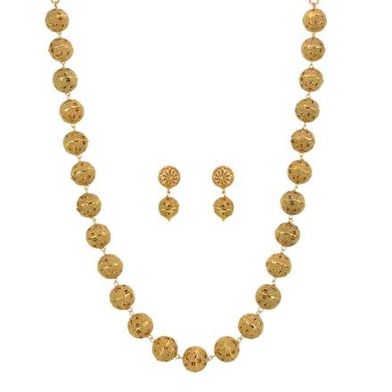 13333 Antique Mala Necklace with gold plating