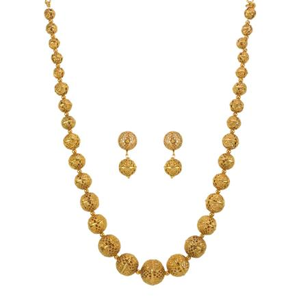 13334 Antique Mala Necklace with gold plating
