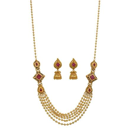 13335 Antique Mala Necklace with gold plating