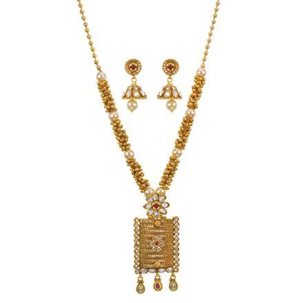 13336 Antique Mala Pendant Set with gold plating