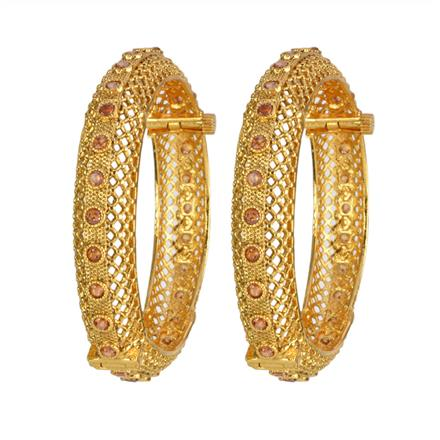 13338 Antique Openable Bangles with gold plating