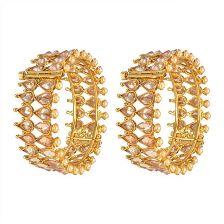 13339 Antique Openable Bangles with gold plating