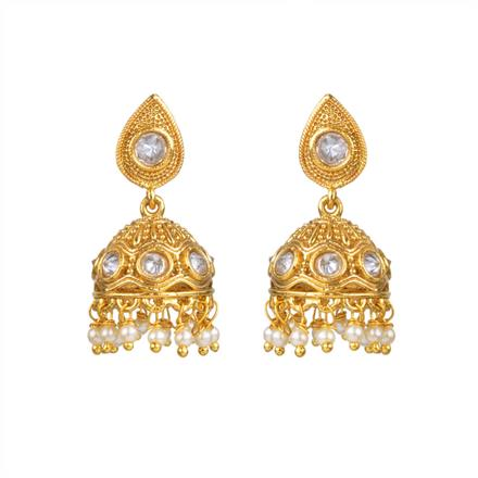 13344 Antique Jhumki with gold plating