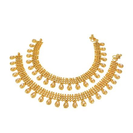 13347 Antique Classic Payal with gold plating