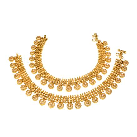13348 Antique Classic Payal with gold plating