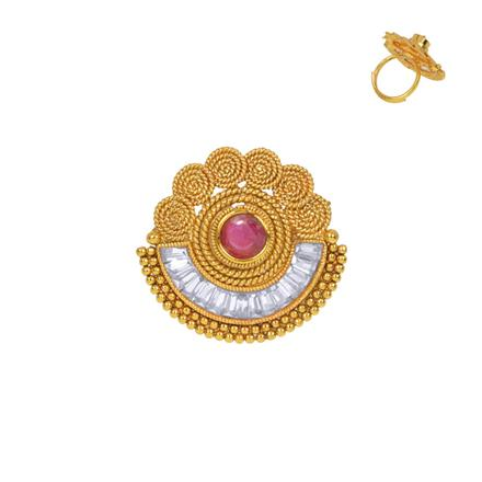 13349 Antique Classic Ring with gold plating