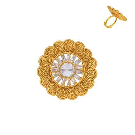 13350 Antique Classic Ring with gold plating