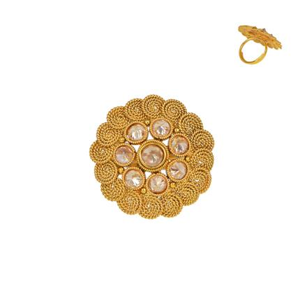 13352 Antique Classic Ring with gold plating