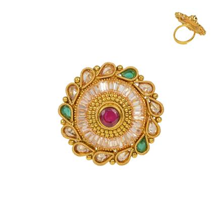 13353 Antique Classic Ring with gold plating