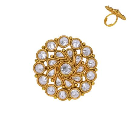 13354 Antique Classic Ring with gold plating