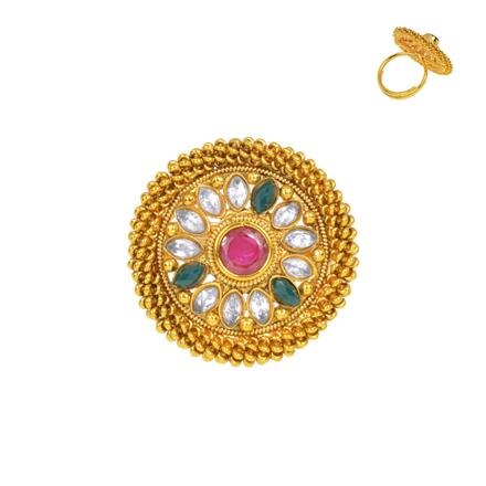 13356 Antique Classic Ring with gold plating