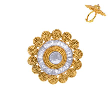 13357 Antique Classic Ring with gold plating