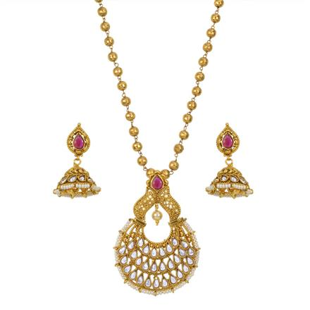 13364 Antique Classic Pendant Set with gold plating