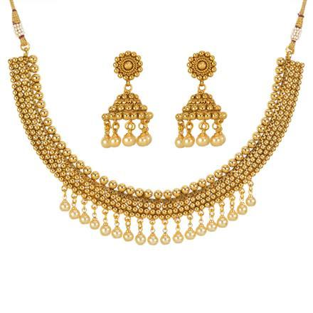 13367 Antique Plain Gold Necklace