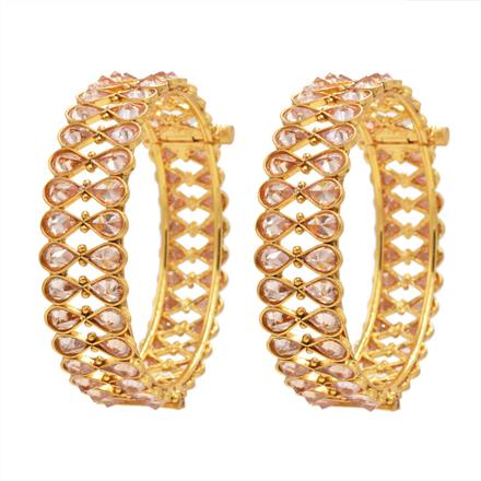 13371 Antique Openable Bangles with gold plating