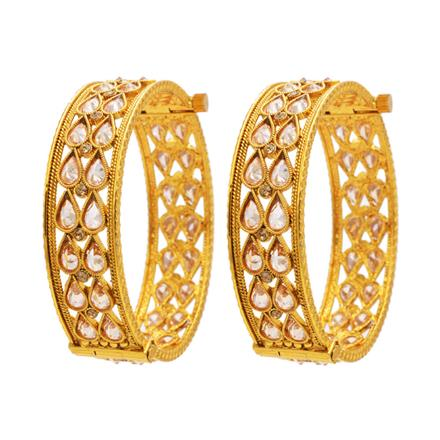13372 Antique Openable Bangles with gold plating