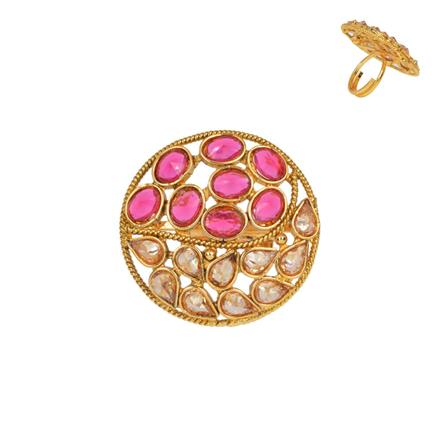 13384 Antique Classic Ring with gold plating