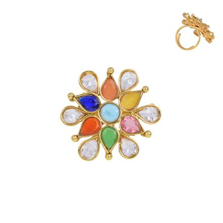 13386 Antique Classic Ring with gold plating