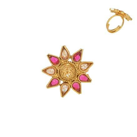 13387 Antique Delicate Ring with gold plating