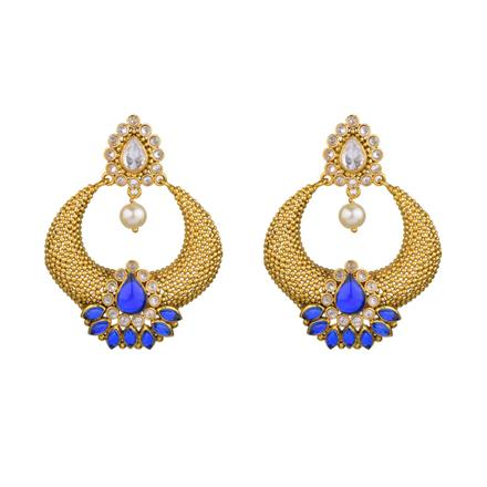 13389 Antique Chand Earring with gold plating