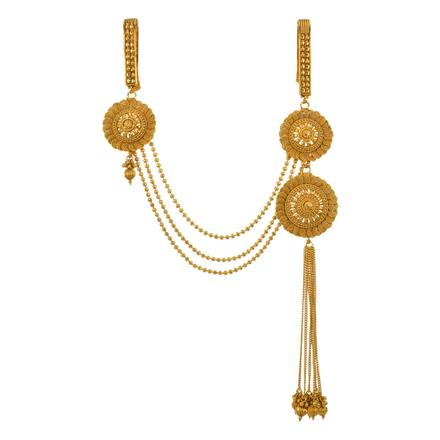 13400 Antique Double Jhuda with gold plating