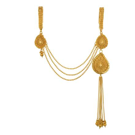 13403 Antique Double Jhuda with gold plating