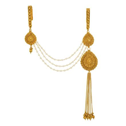 13404 Antique Double Jhuda with gold plating