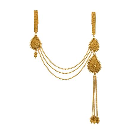 13405 Antique Double Jhuda with gold plating