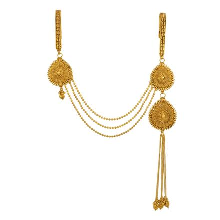 13406 Antique Double Jhuda with gold plating