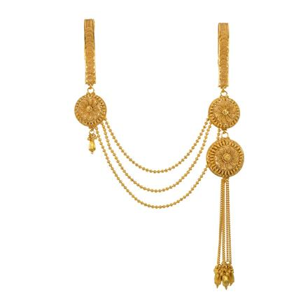 13407 Antique Double Jhuda with gold plating
