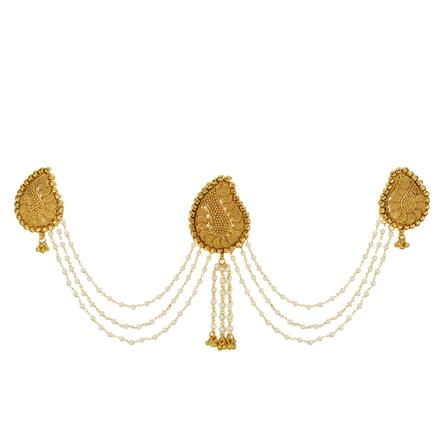 13411 Antique Classic Hair Brooch with gold plating