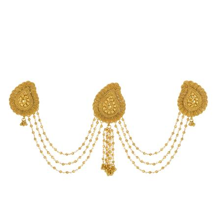 13412 Antique Classic Hair Brooch with gold plating