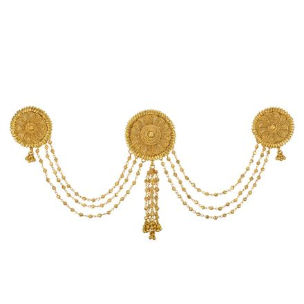 13413 Antique Classic Hair Brooch with gold plating