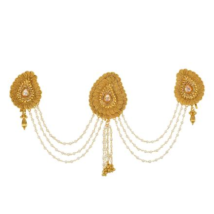 13414 Antique Classic Hair Brooch with gold plating