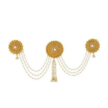 13415 Antique Classic Hair Brooch with gold plating