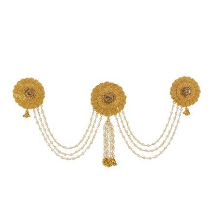 13416 Antique Classic Hair Brooch with gold plating