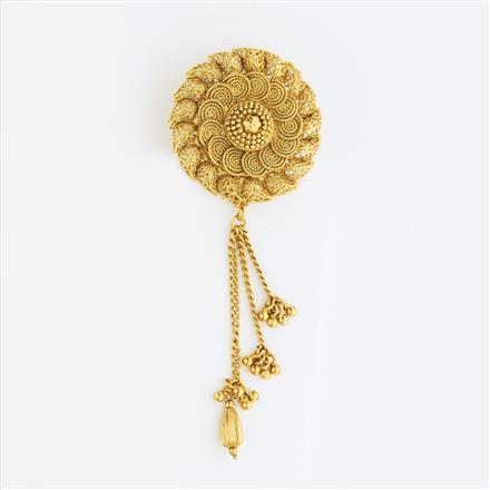 13419 Antique Classic Hair Brooch with gold plating