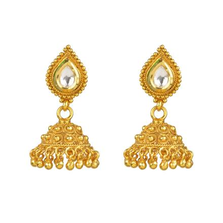 13429 Antique Jhumki with gold plating