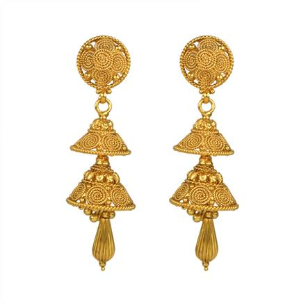 13436 Antique Jhumki with gold plating