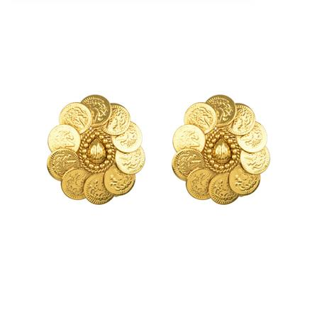 13449 Antique Temple Earring with gold plating