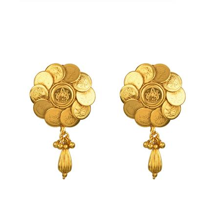 13450 Antique Temple Earring with gold plating