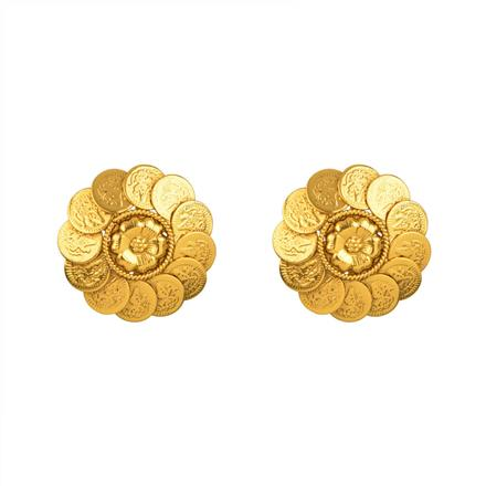 13451 Antique Temple Earring with gold plating