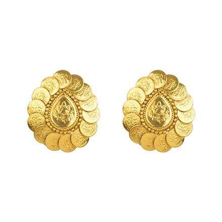 13452 Antique Temple Earring with gold plating
